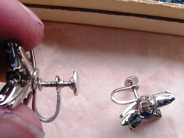 1 pair of vintage Coro blue star earrings