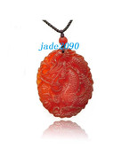 Free Shipping - Amulet AAA Grade  good luck Natural Red jade Dragon Natu... - $19.99