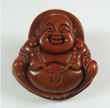 FREE SHIPPING Natural yellow  jade Happy buddha /  happiness buddha /  Compassio - $25.99