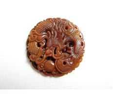 Free Shipping -   jade dragon  Hand- carved Natural yellow jadeite jade dragon   - $25.99