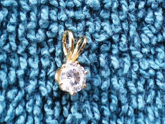 solitare faux diamond necklace