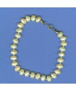 Freshwater Pearl Bracelet Hand  Knotted  Bracelet 8 Inch Length Jewelry - $6.99
