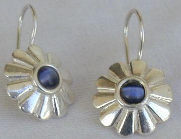 Blue mini sun earrings