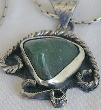 Primary image for Green agate pendant F