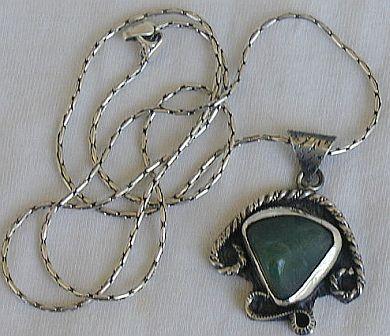 Green agate pendant F