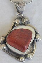 Blood stone pendant F - $55.00