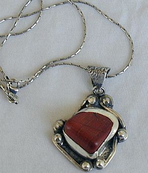 Blood stone pendant F