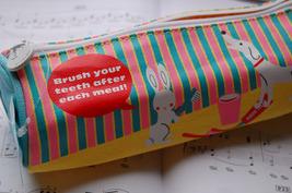 Canvas Pen/Pencil Case/Bag (Yellow) image 3
