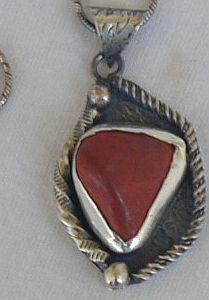 Blood stone pendant-G