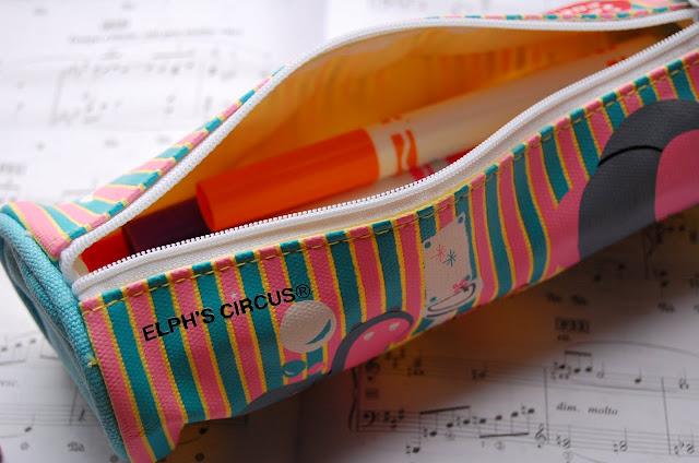 Canvas Pen/Pencil Case/Bag (Yellow) image 2