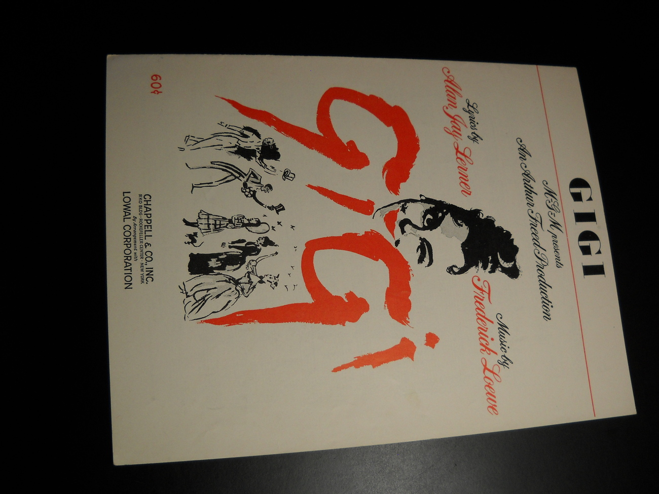 Sheet Music Gigi Lerner and Loewe MGM Lowal Chappell Music Alfred Freed 1958