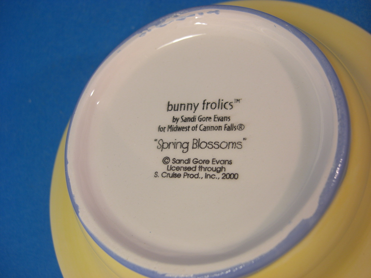 """Sandi Gore """"Spring Blossoms"""" Bunny Candy Dish Midwest"""