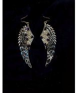 FREE WITH PURCHASE~4.5 inch WING PIERCED GOLDEN EARRINGS - $0.00