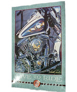 "Harley Davidson Poster -- ""Live to Ride"" - $15.99"