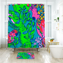 Flower Lilly 06 Shower Curtain Waterproof & Bath Mat For Bathroom - $15.30+