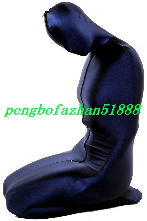 New Dark Blue Lycra Spandex Mummy Suit Outfit Costumes Unisex Sleeping Bag S717