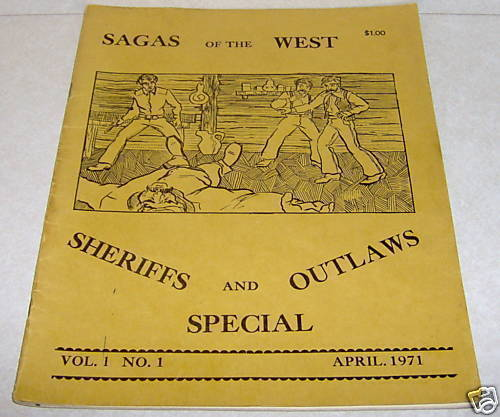 Sagas of the West Magazine Frank Anderson 1971 Vol 1 #1