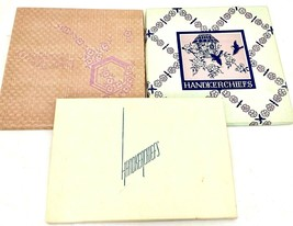 Vintage Boxes ( 3) Gift Box Hankies 3 in Each Embroidered 1940s Great Gift - $26.42