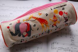 Canvas Pen/Pencil Case/Bag (White) image 1