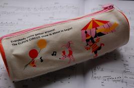Canvas Pen/Pencil Case/Bag (White) image 2
