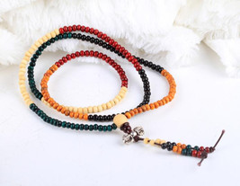 Free Shipping -  7 mm prayer beads , Tibetan Buddhism Colorful sandalwood medita - $19.99