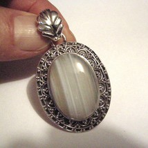 Wrought Sterling Silver Agate Pendant - $32.50