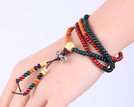 Free Shipping -  Tibetan Buddhism Colorful sandalwood meditation yoga 108 Beads  - $19.99