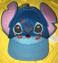 Disney Store Stitch and Angel Girls Kids Hat Blue Sz XS/S Small 3-6 - $13.75