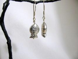 Sterling Silver Hill Tribe Fish Earrings RKS264 image 1