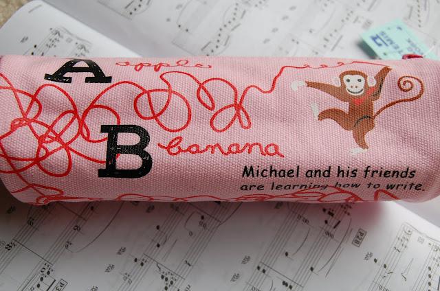 Canvas Pen/Pencil Case/Bag (Pink)