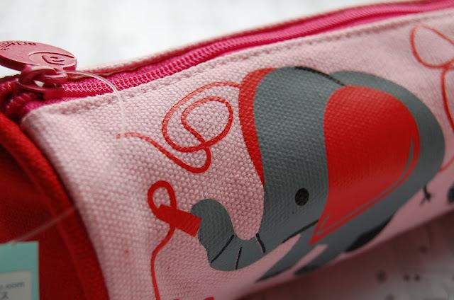 Canvas Pen/Pencil Case/Bag (Pink) image 3
