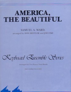 America, The Beautiful 2 Pianos/4 Hands Ward NFMC Selection