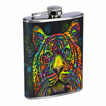 Colorful Tiger Animal Em1 Flask 8oz Stainless Steel Hip Drinking Whiskey - $279,96 MXN