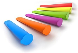 FoodWorks Silicone Ice Pop Maker Molds/Popsicle Molds, Set of 6 - $17.54 CAD
