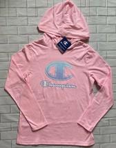 Champion Sweatshirt Pullover Hoodie Script Ombre Logo Girls XL Pink - $16.14