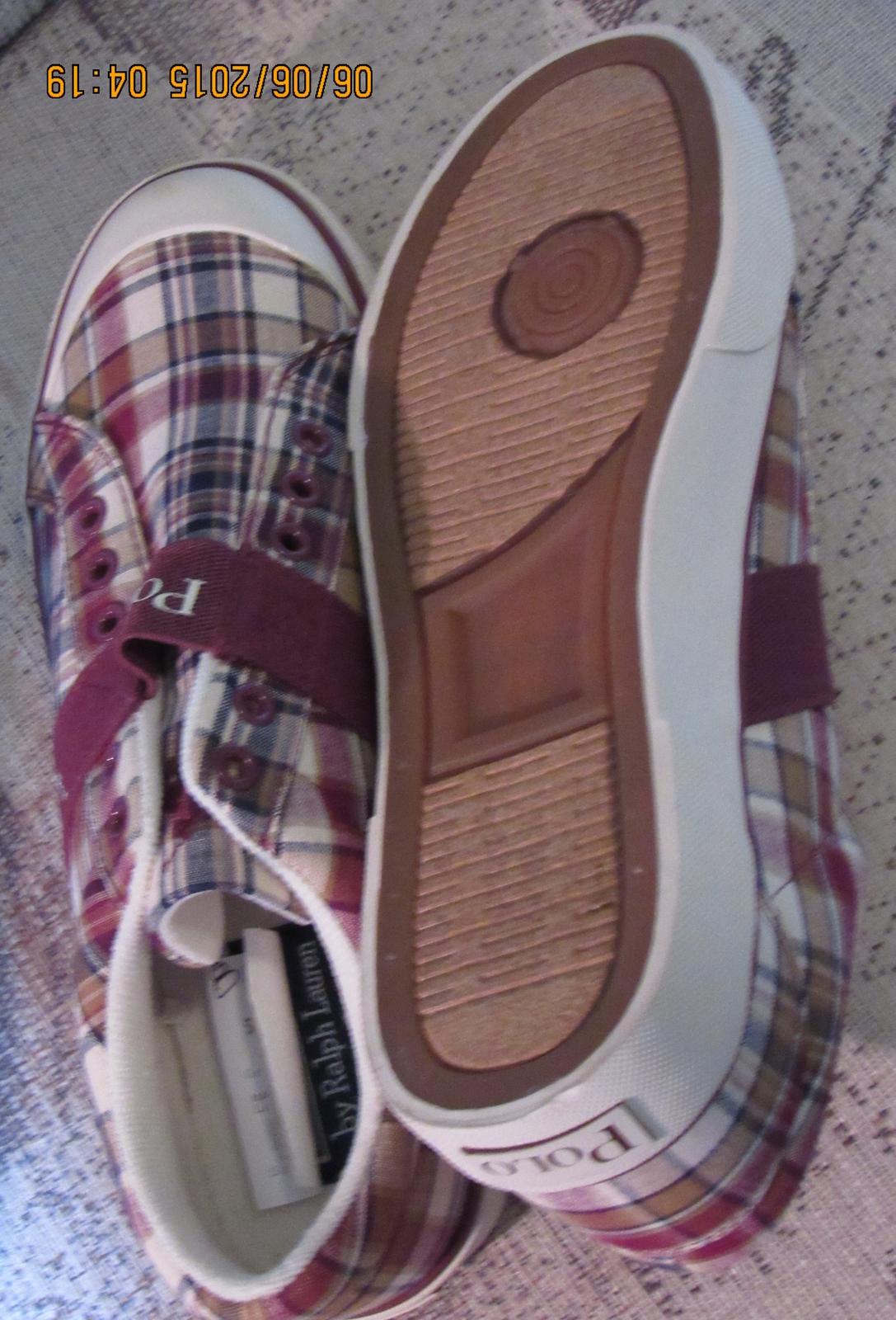 Polo Ralph Lauren BLUE LABEL Men's GARDENER Sneaker CANVAS PLAID 9,10,11,12D NEW