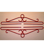 "Red Wrought Iron Bellpull pair 14cm (5.5"") 8051... - $18.00"