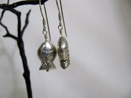 Sterling Silver Hill Tribe Fish Earrings RKS264 image 3