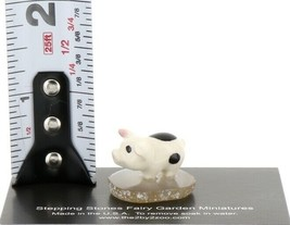 Hagen Renaker Miniature Piglet Standing on Base Stepping Stones Figurine #2709 image 2