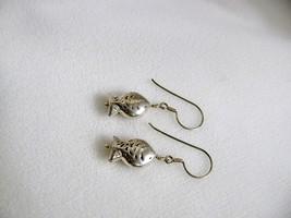 Sterling Silver Hill Tribe Fish Earrings RKS264 image 4