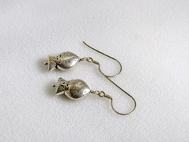 Sterling Silver Hill Tribe Fish Earrings RKS264 image 5