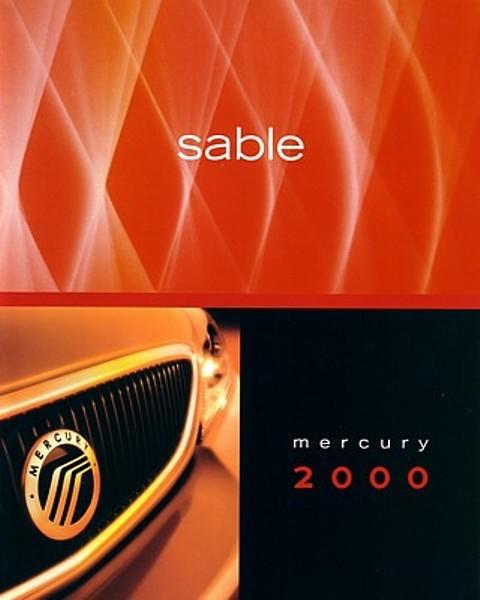 2000 Mercury SABLE brochure catalog US 00 GS LS Premium