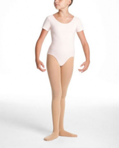Danskin Pink Short Sleeve Leotard Dance XSmall 4//5 NWT