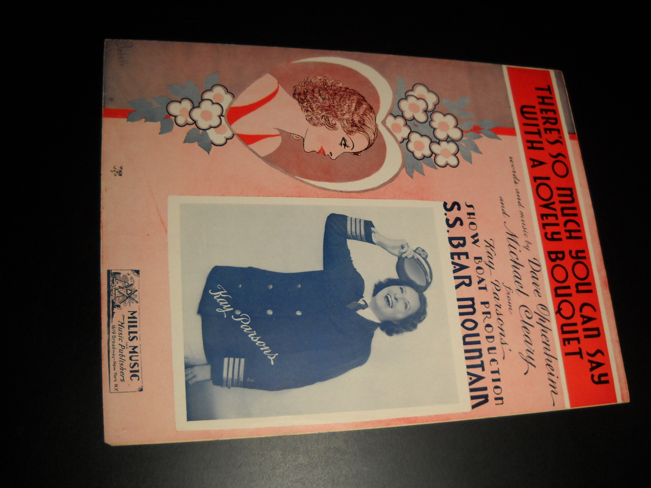 Sheet music there s so much to say with a lovely bouquet ss bear mountain kay parsons 1936 mills music 01