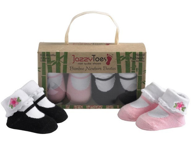 Primary image for Jazzy Toes Bamboo Collection Mary Jane Socks 0-6M