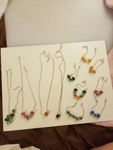 LOT Charm Necklaces (SLP Chains & Swarovski Crystal Beads) Girl's Night ... - $396.00
