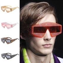 Women Sunglasses Small Frame Diamond Mirror Shades Retro UV400 Eye Sungl... - $24.55