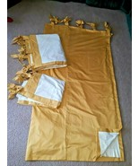 """3 Curtains DRAPES 2 Panels 68"""" x 76"""" / 1 Panel 68"""" X 50"""" Tab Top GOLD Lined - $98.99"""