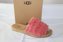 """UGG """"EDITH"""" WOMEN'S SLIDE SLIPPERS, VIBRANT CORAL, SIZE 5, 1090849 - £38.48 GBP"""