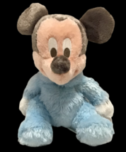 Disney Baby Mickey Rattle Plush Blue Beanbag Disneyland Walt Disney Worl... - $19.79